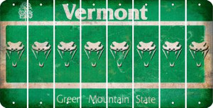 Vermont SNAKE Cut License Plate Strips (Set of 8) LPS-VT1-088