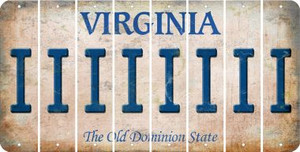 Virginia I Cut License Plate Strips (Set of 8) LPS-VA1-009