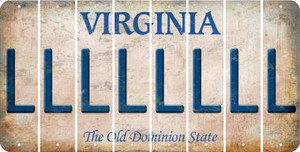 Virginia L Cut License Plate Strips (Set of 8) LPS-VA1-012