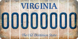 Virginia O Cut License Plate Strips (Set of 8) LPS-VA1-015