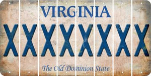 Virginia X Cut License Plate Strips (Set of 8) LPS-VA1-024