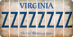 Virginia Z Cut License Plate Strips (Set of 8) LPS-VA1-026