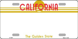 California Novelty State Background Blank Wholesale Metal License Plate LP-4607