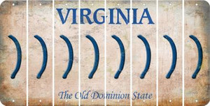 Virginia RIGHT PARENTHESIS Cut License Plate Strips (Set of 8) LPS-VA1-048