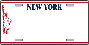 New York Novelty State Background Blank Wholesale Metal License Plate LP-4609