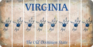 Virginia BOWLING Cut License Plate Strips (Set of 8) LPS-VA1-059