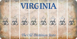 Virginia BABY BOY Cut License Plate Strips (Set of 8) LPS-VA1-066