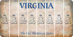 Virginia BABY GIRL Cut License Plate Strips (Set of 8) LPS-VA1-067