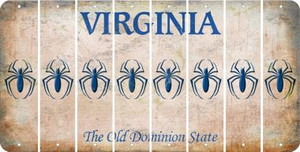 Virginia SPIDER Cut License Plate Strips (Set of 8) LPS-VA1-076