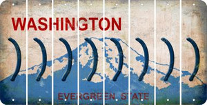 Washington RIGHT PARENTHESIS Cut License Plate Strips (Set of 8) LPS-WA1-048
