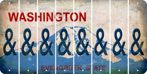 Washington AMPERSAND Cut License Plate Strips (Set of 8) LPS-WA1-049