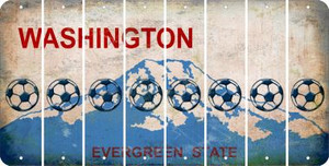 Washington SOCCERBALL Cut License Plate Strips (Set of 8) LPS-WA1-061