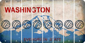 Washington VOLLEYBALL Cut License Plate Strips (Set of 8) LPS-WA1-065