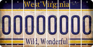 West Virginia O Cut License Plate Strips (Set of 8) LPS-WV1-015