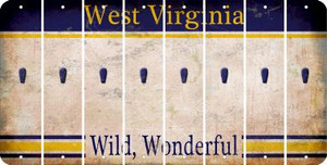 West Virginia APOSTROPHE Cut License Plate Strips (Set of 8) LPS-WV1-038