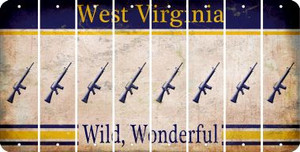 West Virginia M16 RIFLE Cut License Plate Strips (Set of 8) LPS-WV1-052