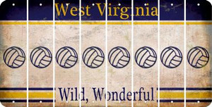 West Virginia VOLLEYBALL Cut License Plate Strips (Set of 8) LPS-WV1-065