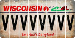 Wisconsin V Cut License Plate Strips (Set of 8) LPS-WI1-022