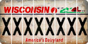 Wisconsin X Cut License Plate Strips (Set of 8) LPS-WI1-024