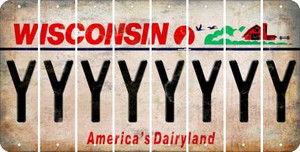 Wisconsin Y Cut License Plate Strips (Set of 8) LPS-WI1-025