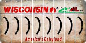 Wisconsin RIGHT PARENTHESIS Cut License Plate Strips (Set of 8) LPS-WI1-048