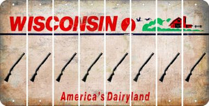 Wisconsin SHOTGUN Cut License Plate Strips (Set of 8) LPS-WI1-054