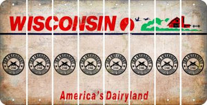 Wisconsin 2ND AMENDMENT Cut License Plate Strips (Set of 8) LPS-WI1-056