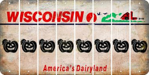 Wisconsin PUMPKIN Cut License Plate Strips (Set of 8) LPS-WI1-075