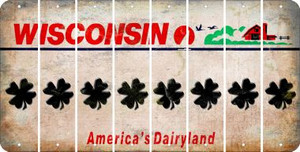 Wisconsin SHAMROCK Cut License Plate Strips (Set of 8) LPS-WI1-082
