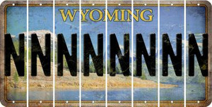 Wyoming N Cut License Plate Strips (Set of 8) LPS-WY1-014