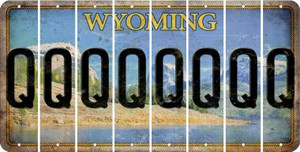 Wyoming Q Cut License Plate Strips (Set of 8) LPS-WY1-017