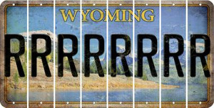 Wyoming R Cut License Plate Strips (Set of 8) LPS-WY1-018