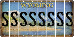 Wyoming S Cut License Plate Strips (Set of 8) LPS-WY1-019