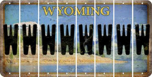 Wyoming W Cut License Plate Strips (Set of 8) LPS-WY1-023