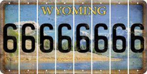 Wyoming 6 Cut License Plate Strips (Set of 8) LPS-WY1-033