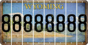 Wyoming 8 Cut License Plate Strips (Set of 8) LPS-WY1-035