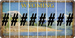 Wyoming HASHTAG Cut License Plate Strips (Set of 8) LPS-WY1-043