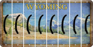 Wyoming LEFT PARENTHESIS Cut License Plate Strips (Set of 8) LPS-WY1-045