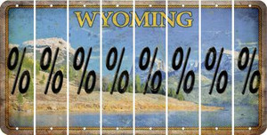 Wyoming PERCENT SIGN Cut License Plate Strips (Set of 8) LPS-WY1-046