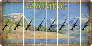Wyoming M16 RIFLE Cut License Plate Strips (Set of 8) LPS-WY1-052
