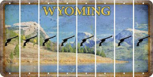Wyoming PISTOL Cut License Plate Strips (Set of 8) LPS-WY1-053