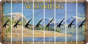 Wyoming SUBMACHINE GUN Cut License Plate Strips (Set of 8) LPS-WY1-055