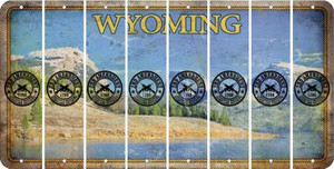 Wyoming 2ND AMENDMENT Cut License Plate Strips (Set of 8) LPS-WY1-056