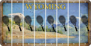 Wyoming TENNIS Cut License Plate Strips (Set of 8) LPS-WY1-064