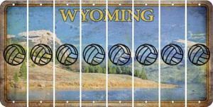 Wyoming VOLLEYBALL Cut License Plate Strips (Set of 8) LPS-WY1-065