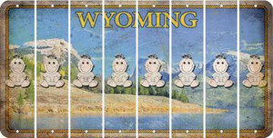 Wyoming BABY GIRL Cut License Plate Strips (Set of 8) LPS-WY1-067