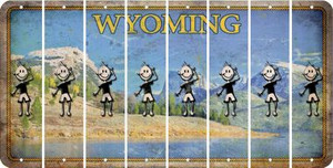 Wyoming TEEN BOY Cut License Plate Strips (Set of 8) LPS-WY1-068