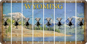 Wyoming TEEN GIRL Cut License Plate Strips (Set of 8) LPS-WY1-069