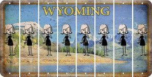 Wyoming MOM Cut License Plate Strips (Set of 8) LPS-WY1-070