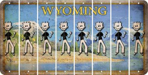 Wyoming DAD Cut License Plate Strips (Set of 8) LPS-WY1-071